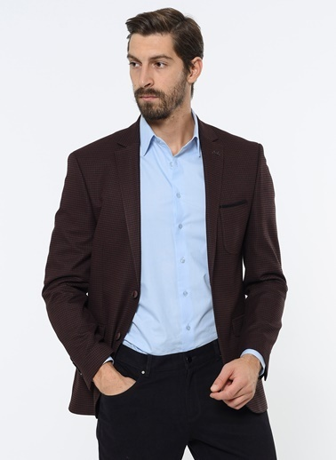 Comienzo Slim Fit Blazer Ceket Bordo